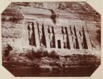 Abu Simbel from river steamer, Humphrey Winterton Coll, Northwestern U