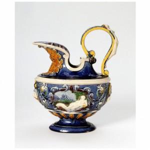 Bernard Palissy, Earthenware Ewer, 1580-1600 (V&A 7178-1860)