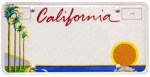 Wayne Thiebaud, CA License Plate, 1994 (California DMV)