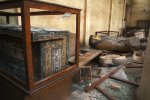 Damaged antiquities and other objects at Egypt's Malawi National Museum (Roger Anis / El Shorouk / Associated Press)