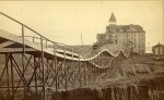 E.G. Morrison, Roller Coaster at the Arcadia Hotel, Santa Monica, late 1880s, albumen print (photo: Huntington Library, Art Collections, and Botanical Gardens)