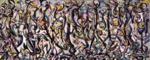 Jackson Pollock, Mural, 1943, 8 X 20 feet (photo: University of Iowa Museum of Art, #1959.6)