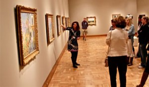 Docents leading a gallery tour at the Santa Barbara Museum of Art (photo: SBMA)