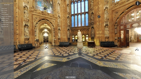Houses of Parliament Virtual Tour: Central Lobby view