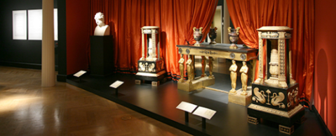 Thomas Hope: Regency Designer, Installation view; 2008. Image and original data contributed by Bard Graduate Center Gallery