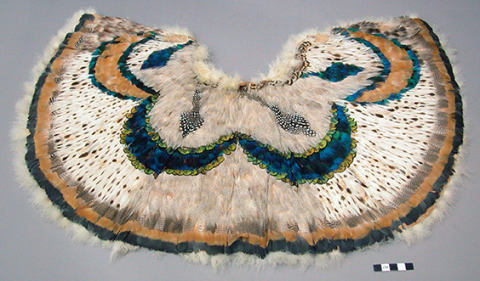 Feather cape – made of peacock feathers, etc. (pelerine). South African? 1820-1830. Image and original data provided by Peabody Museum of Archaeology and Ethnology. © President and Fellows of Harvard College (courtesy Artstor, harvard_peabody_awss35953_35953_387510640